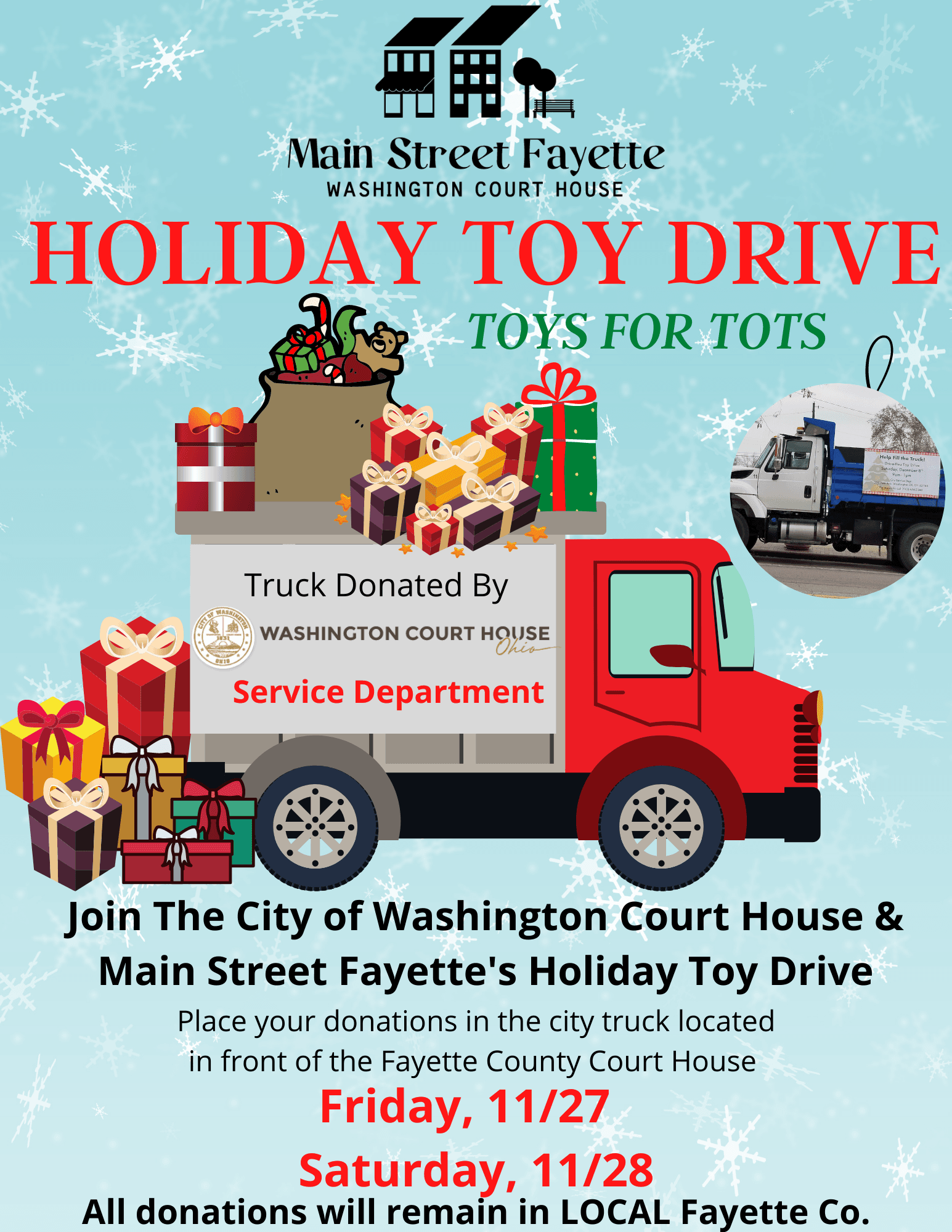 HOLIDAY TOY DRIVE- City of WCH & MSF