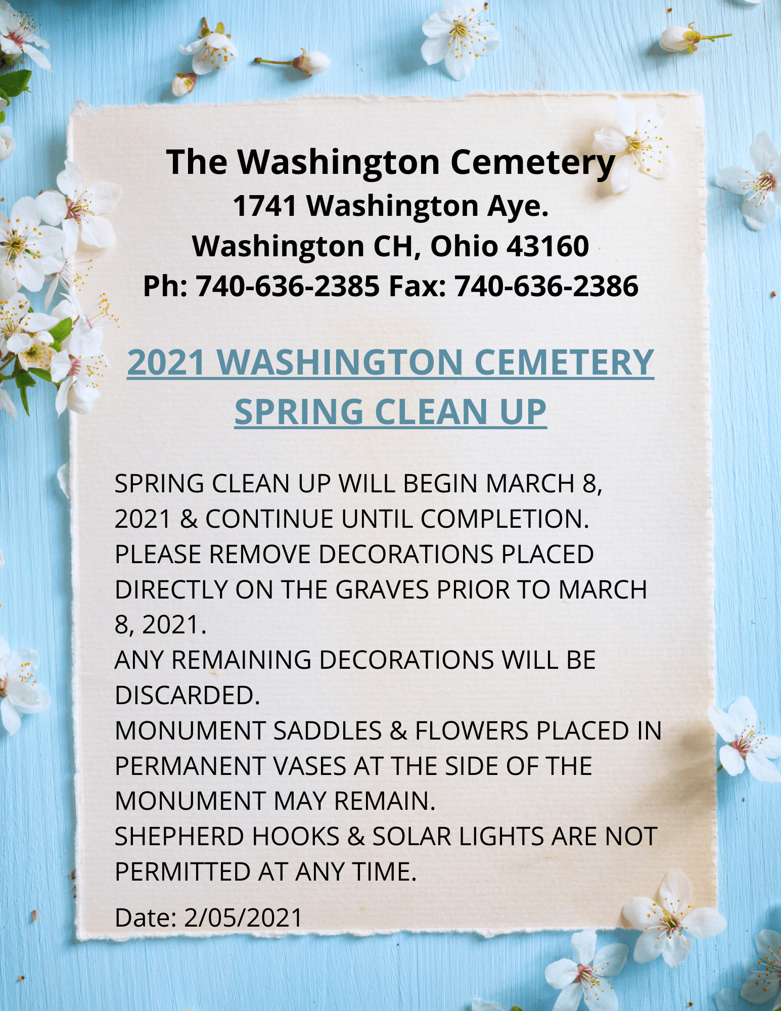 2021 Cemetery Clean Up